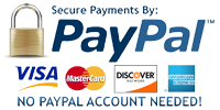 Pay securely using PayPal – no account signup needed, or use your existing account.